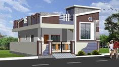 3 bedroom house plans single floor with modern house design brunei and paint house meaning in tamil and bungalow residential house design 2 Storey House Design, Duplex House Design, Modern House Design, Contemporary Design, Single Floor House Design, House Front Design, Independent House, Building Elevation, House Elevation