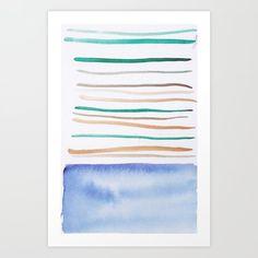 Lines & Color Block Series October 2018 Watercolor Art Paintings, Modern Art Paintings, Watercolor Print, Watercolor Artists, Pastel Watercolor, Painting Art, Art Prints For Home, Modern Art Prints, Art Prints Quotes