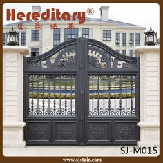Automatic Indian House Cast Aluminum Main Gate Designs For Villa