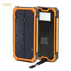 (Rating: 4 stars) Solar Charger X-DRAGON Portable 15000mAh Dual USB Solar Battery Charger Power Bank with Carabiner and light lamp iPhone iPad iPod Cell Phone Tablet Camera (Orange) This ranks among the best of the most selling products online in Wireless  category. Click below to see its Availability and Price in your country.