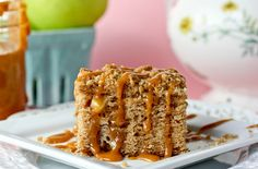Caramel Apple Coffee Cake---IMG_7509 by cookbookqueen, via Flickr