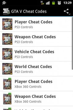 cheat codes of gta 5 ps3