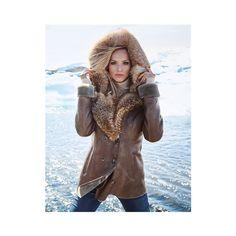 Veste. Peau d'agneau (€219) via Polyvore featuring outerwear, vests, vest waistcoat, brown waistcoat en brown vest