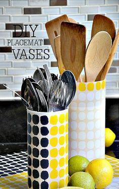 DIY Placemat Vases