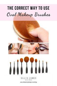 "The Correct Way to Use Oval Makeup Brushes When you're just beginning to use these ""spoon brushes"" you might find they have a lot of great use but you may feel uncomfortable with how to use them. Hacks Tips Contour Makeup, Makeup Brush Set, Makeup Kit, Makeup Ideas, Body Makeup, Makeup Style, Makeup Tutorials, Makeup Tools, Make Makeup"