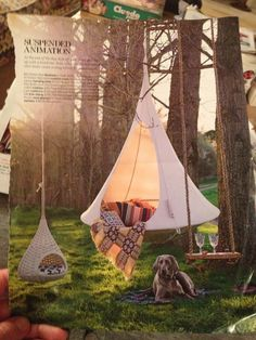 love this cacoon hanging chair from hanginout