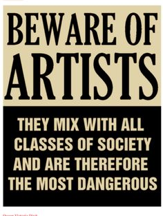 Actual poster issued by Senator Joe Mccarthy in 1950s, at height of 'the red scare' (Communism). All Artists were suspect.