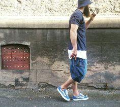 Short saroual battle jeans dcjeans + Vans