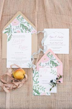 Wedding invitation idea; photo: Jessica Kettle Photography