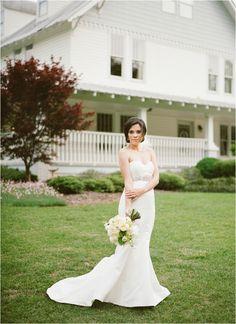 Sweet Julep Photography | Birmingham Wedding | The Sonnet House | Alabama Wedding | Wedding Day | BHLDN Wedding Dress | Bride | Bridal Portrait | Brides Bouquet | Peonies | Peony Bouquet | Gold and Blush Inspired Wedding | Film Wedding Photography