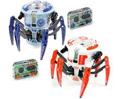 HexBug Battle Spider and over 7,500 other quality toys at Fat Brain Toys. Scrambling fast on mechanical legs, this spider is the toughest of the tough. Once your foe is in sight, fire a light beam - WOW! A direct hit! The enemy lights up red and realistically recoils. Score 10 hits, and your foe shuts down completely!