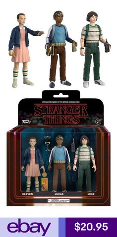 Funko 20833 Stranger Things eleven Lucas Mike Collectible Action Figures for sale online Stranger Things Setting, Stranger Things Gifts, Lucas Stranger Things, Stranger Things Aesthetic, Stranger Things Netflix, Think Action, Vinyl Figures, Action Figures, Triste Disney