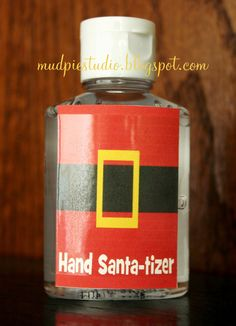 Party Favor - Hand Sanitizer. Great for party favors or to add to teacher holiday gifts.
