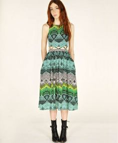 Black Desert Lattice Waist Dress - Mara Hoffman