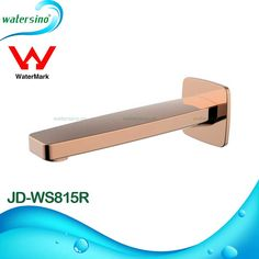 Rose Gold Plated Brass Bathtub Spout for Bathroom Shower