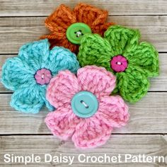 Crochet For Children: Simple Daisy Crochet Pattern