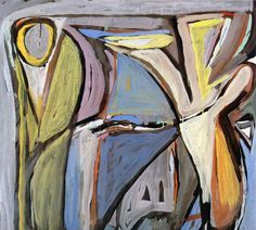 Zonder Titel, 1947, 100 x 81 cm, Paris, Galerie Maeght Abstract Words, Abstract Painters, Painting Abstract, Painting & Drawing, Bram Van Velde, Tachisme, Global Art, Inspiring Art, Art Paintings