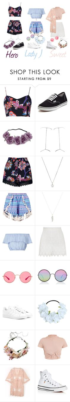 """""""Hotqueen's Falling In Love Performance"""" by duda0505 on Polyvore featuring moda, Motel, Vans, Bliss by Damiani, ASOS, Miss Selfridge, Zimmermann, Ray-Ban, Sunday Somewhere e adidas Originals"""