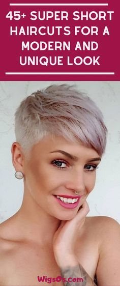 Super Short Haircuts for a Modern and Unique Look short pixie hair Pixie Haircut For Thick Hair, Haircut For Older Women, Short Pixie Haircuts, Cute Hairstyles For Short Hair, Curly Hair Styles, Hairstyles Haircuts, Short Grey Hair, Very Short Hair, Short Hair Cuts For Women