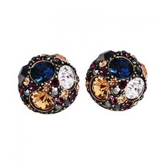 Vintage Jewelry Luxurious Curving Stud Earrings for Ladies