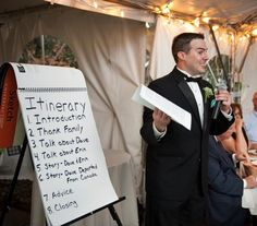 Hilarious Best Man Speech Prop -- the groom was an engineer who LOVES lists. themarriedapp.com hearted <3