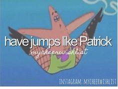 Cheer jumps! Haha!!