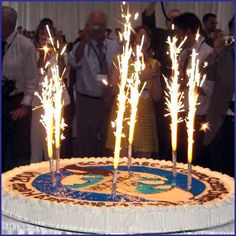 Gold Birthday Candle Sparklers 30th Themes 19th Bash