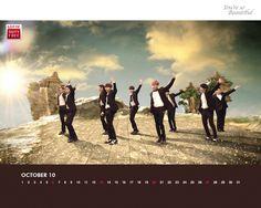 Super Junior Lotte Duty Free October Calendar Wallpaper