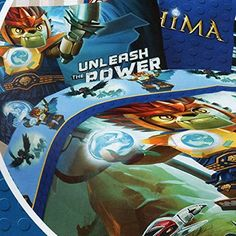 LEGO Legends of Chima 4pc Twin Comforter and Sheet Bedding Set Collection -- See this great product.