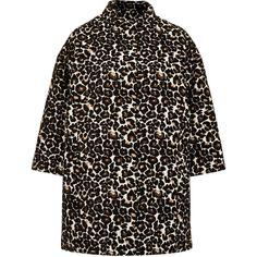 TOPSHOP Animal Print Coat