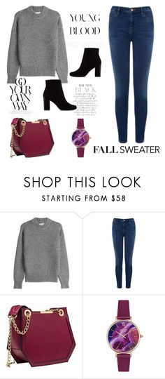 """""""Cozy Fall Sweaters"""" by nadiya-15 ❤ liked on Polyvore featuring DKNY, Warehouse, Lola Rose and Yves Saint Laurent"""