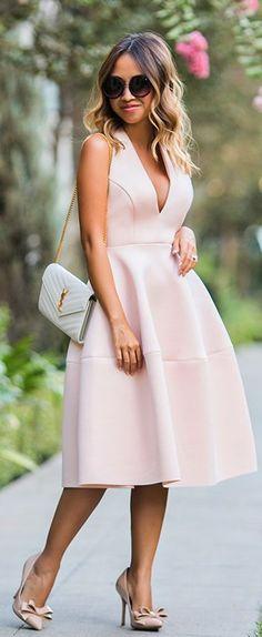Lace & Locks Pink Halter Midi Dress