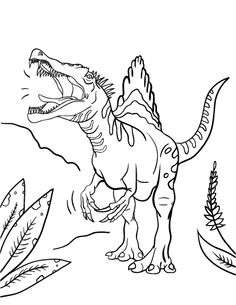 spinosaurus coloring pages printable - coloring pages on pinterest pokemon coloring pages