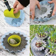 Para hacer macetas con cemento! Solo necesitamos un bowls como molde, el que mas nos guste y listo!
