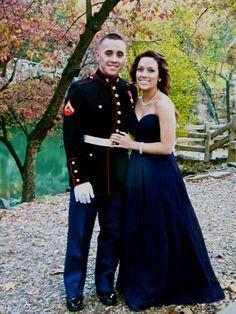 Marine Corps Birthday Ball- love that dress! Airforce Wife, Usmc, Marines, Marine Corps Birthday, Marine Corps Ball, Military Relationships, Relationship Goals, Navy Girlfriend, Military Ball Dresses