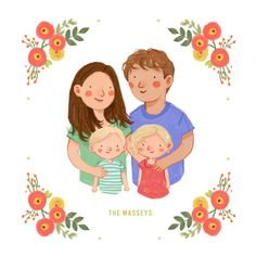 Custom Family Portrait couple portrait with or by kathrynselbert