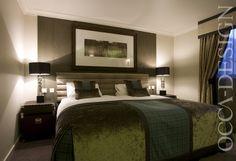 Hotel Interior, Bedroom Interior, Scottish Interior, Contemporary Design, Neutral Interior, Headboard, Trunks, Bedside Tables, The Landmark Hotel, Dundee, BDL Hotels
