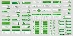 Vector: Green big button pack  #button #fotolia #design #concept #tool #cart #shop #online #services #icon #vector #business