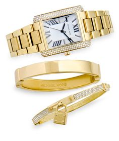 GOLD STANDARD - Haute hardware in classic shapes to make every day merry and bright #haute #classic #merry #michaelkors