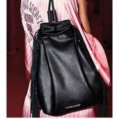 Victoria's Secret fringe bag Beautiful black fringe hang from both sides of the bag new in original packaging Victoria's Secret Bags