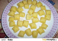 Gnocchi, Dumplings, Cantaloupe, Pineapple, Bread, Fruit, Food, Pinecone, Meal