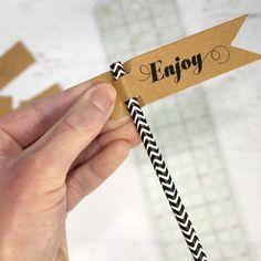 free printable straw flag tutorial
