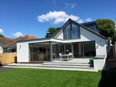bungalow exterior ireland results - ImageSearch Bungalow Renovation, Bungalow Exterior, Bungalow House Design, Modern Bungalow, Bungalow Ideas, Bungalow Conversion, House Designs Ireland, House Extension Design, Extension Ideas