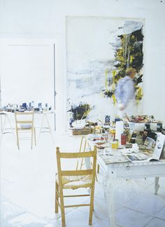 Cy Twombly's studio