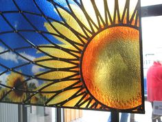 GLasprint met glas in lood  (GLasprint as a stained glass window )