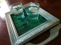 Faux Stained Glass Tray