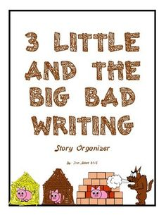 A fun and creative way to extend the reading of the 3 Little Pigs and the Big Bad Wolf, The 3 Little Wolves and the Big Bad Pig, The True Story of the 3 Little Pigs told by A Wolf, or the 3 Ninja Pigs. Students can create their own story based on the classic story of the 3 Little Pigs and the Big Bad Wolf.
