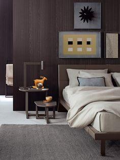 Chic Bedroom by Poliform poliform Bedroom Bed, Home Decor Bedroom, Bedroom Brown, Bedroom Modern, Bed Room, Backboards For Beds, Masculine Interior, Suites, Bedroom Styles