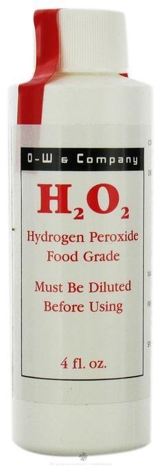 Buy O-W & Company - H2O2 Hydrogen Peroxide Food Grade 12% - 4 oz. at LuckyVitamin.com