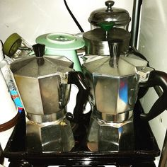 Well this might be a little out of hand. #coffee #mokapot #pourover #frenchpress http://ift.tt/20b7rle